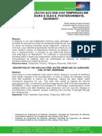 CARACTERIZAÇÃO DO AÇO SAE-4140 TEMPERADO EM  ÁGUA, SALMOURA E ÓLEO E, POSTERIORMENTE,  REVENIDO*