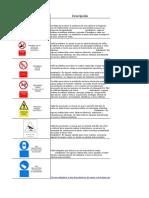señaletica comun para layout de obra