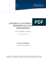 Analisis Doctrina Represion Actos Homogeneos