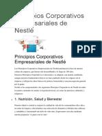 ZPrincipios Corporativos Empresariales de Nestlé