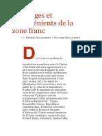 Avantages Et Inconvénients de La Zone Franc