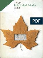 El otoño en la Edad Media - Huizinga ( cap 1 subrayado)