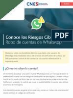Riesgos Cibernéticos/Robo de Cuentas de WhatsApp