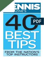 Tennis Magazines 40 Best Tips
