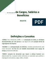 Aula 1 - Cargos, Salarios e Beneficios