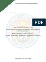 Federalism-Politics of Secession Autonomy and Accommodation (1)
