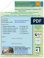 NGL2019 Call for Papers - International Conference on Next Generation Libraries-2019 (NGL-2019)