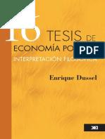 16 tesis de economia politica. Enrique Dussel