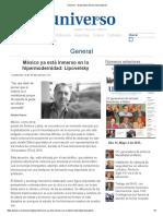 Mexico Ya Esta Inmerso en La Hipermodernidad-lipovetsky