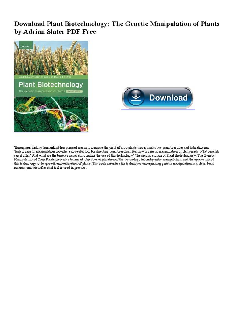 The Genetic Manipulation of Plants Plant Biotechnology
