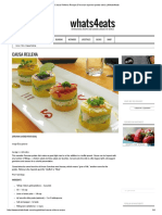 Causa Rellena Recipe (Peruvian Layered Potato Dish) _ Whats4eats