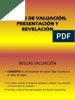 reglas de valuacion