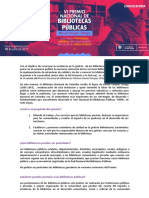 Convocatoria Premio Bibliotecas 2019