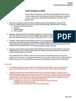 Urology ST3 Portfolio Self-Assessment Guidance 2018