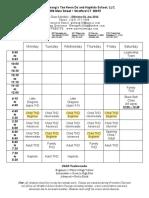 Schedule Stratford