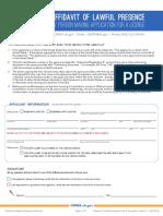 OMMA - Affidavit of Lawful Presence Form