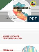 Descentralización en El Perú
