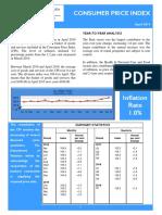 Consumer Price Index - Apr 19