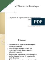 Conf 3 Formas de Organización de La Docencia