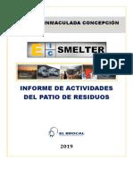Informe de Actividades Del Patio de Residuos 2019