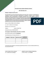 Certificado No Declarante Persona Natural