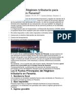 Cuál Es El Régimen Tributario Para Empresas en Panamá