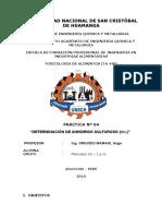 p4 Determinación de Anhidrido Sulfuroso.