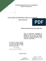 EVOLUÇÃO DO EMPREGO PÚBLICO NO BRASIL NOS ANOS 90