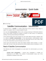 Satellite Communication Quick Guide