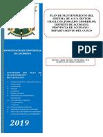 2.1. f. Modelo Plan de Mantenimiento Hatun - Urco - Calca 15 Abril 2019