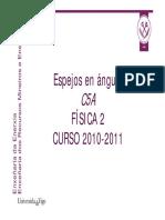 Espejos en ángulo C5A Física 2