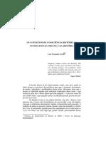 OS CONCEITOS DE CONSCIÊNCIA HISTÓRICA E os desafios da didatica historica