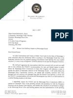 Delbert Letter on Bonne Spillway
