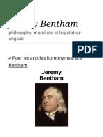 Jeremy Bentham — Wikipédia