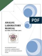 Analog Manual
