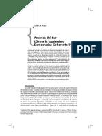 América del Sur ¿Giro a las izquierda o Democracias coherentes?. Carlos Vilas.