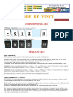 Règle Du Jeu de Société Code de Vinci