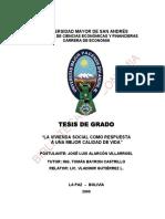 vivenda social Bolivia