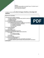 Reflexión sobre la lengua fonética y fonología del español