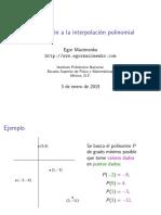 Polynomial Interpolation Introduction Presentation Es