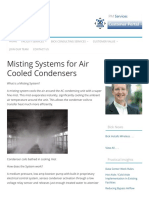 Misting Systems for Air Cooled Condensers