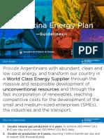 Plan Energetico Argentina 2018