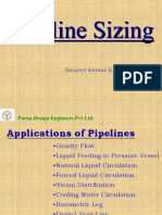Pipe sizing