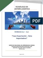 Evidencia 15.1 15.2 Caso exportación - Ruta Importadora