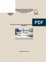 Derecho Civil i . Contrato de Venta Como Obligaciones Del Vededor y Comprador .Trabajo Escrito .