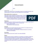 Ficha de projeto