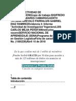 Informe Actividad de Investigaciongrupo de Trabajo
