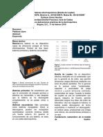 Informe electroquímica Botella de Leyden
