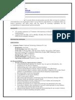 BibhutiBhusanPadhi Resume DBA