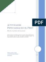 Actividades Petroleras